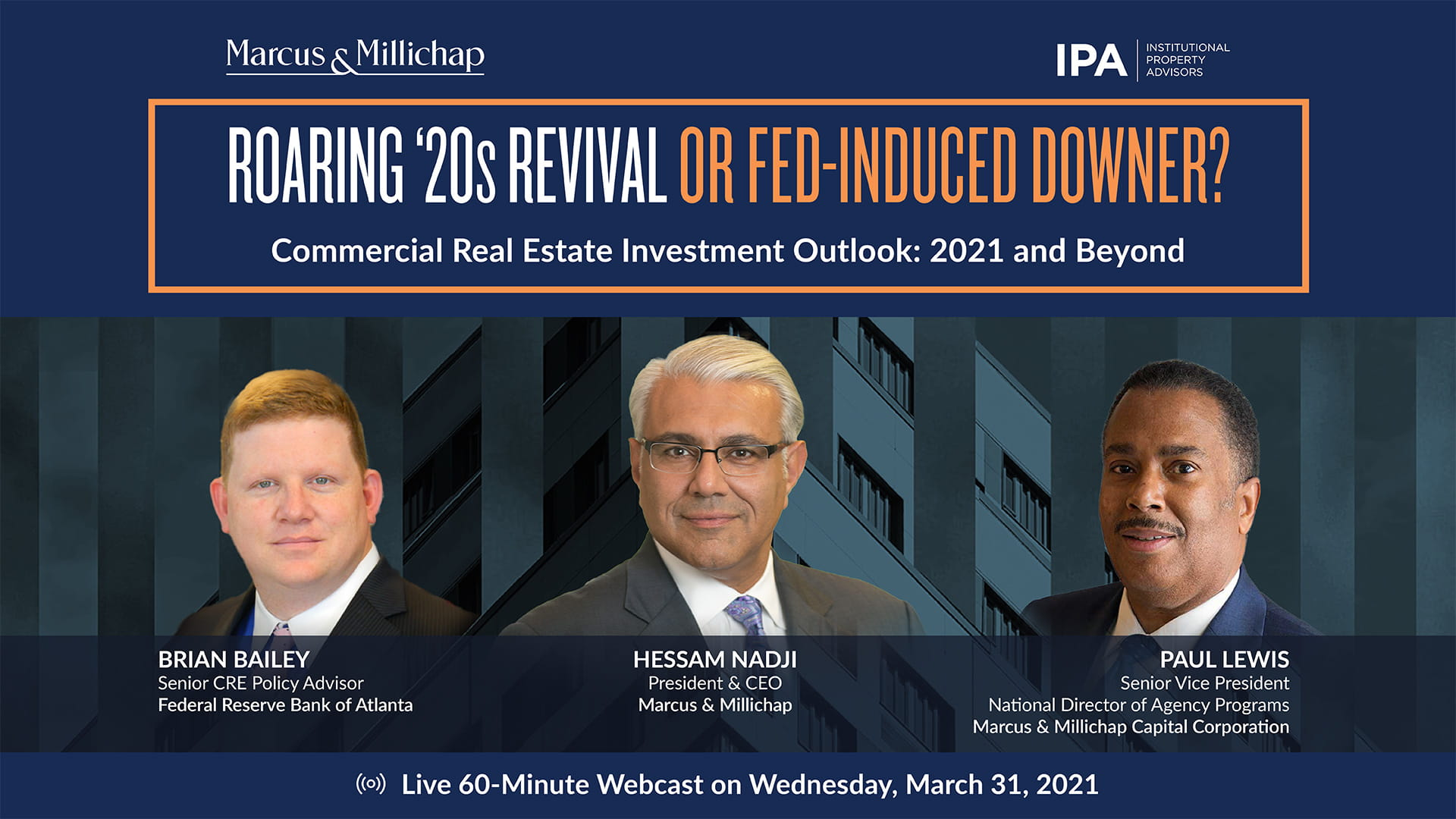 Commercial Real Estate Investment Outlook: 2021 and Beyond